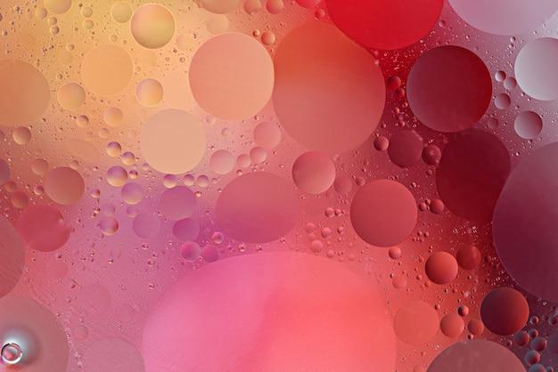 Abstrakte kugelförmige kreise auf farbverlaufshintergrund, tapetenkonzept