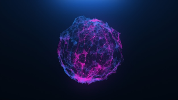 Abstrakte kugeln eines virus