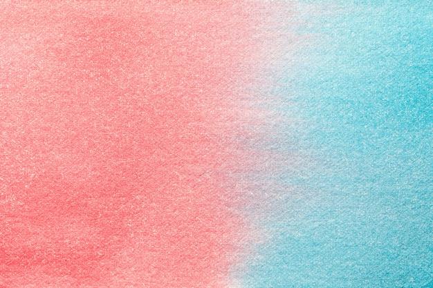 Abstrakte kunst hintergrund hellblau und rosa farben, aquarell auf leinwand,