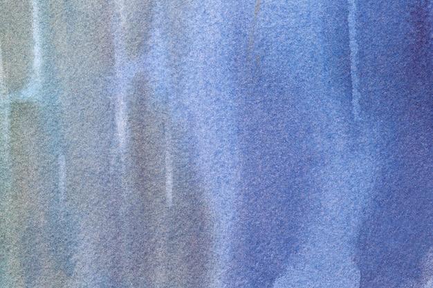 Abstrakte kunst hintergrund marineblau und graue farben. aquarellmalerei auf leinwand.