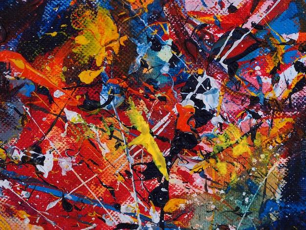 Abstrakte kunstmalerei auf leinwandhintergrund mit textur