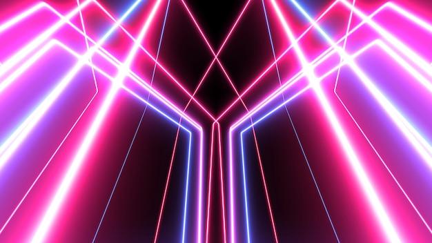 Abstrakte leuchtende linien hintergrund. neonlichter
