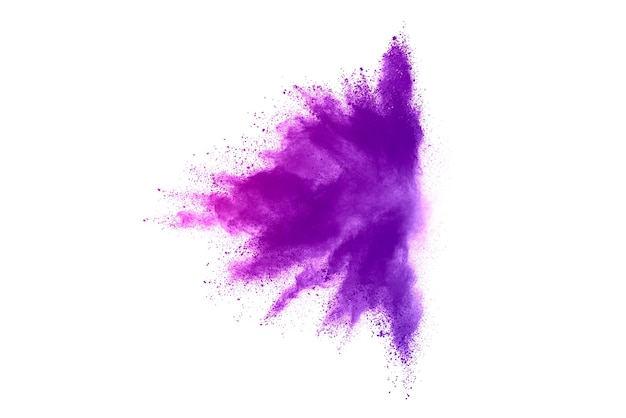Abstrakte lila pulverexplosion