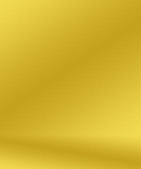 Abstrakte luxuriöse goldgelbe farbverlaufsstudiowand gut als hintergrundlayoutbanner und produktvor...