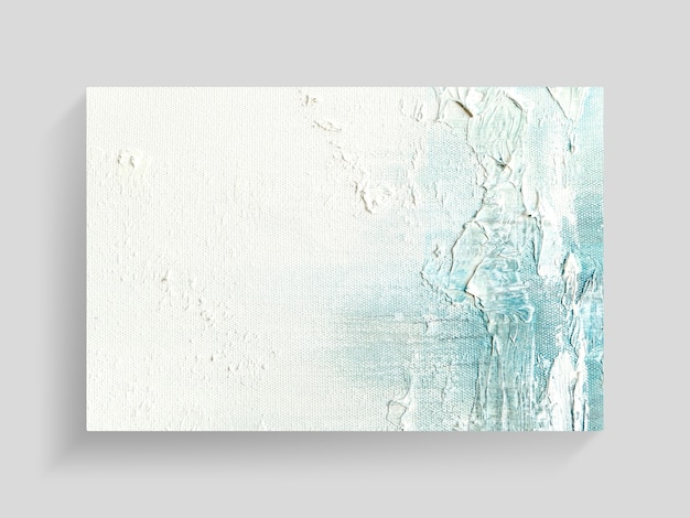 Abstrakte malereikunst auf segeltuchbeschaffenheitshintergrund. nahaufnahmebild.