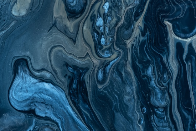 Abstrakte marinefarben flüssiger hintergrund