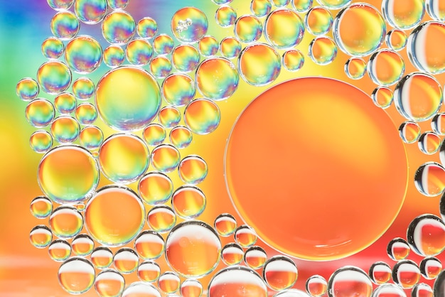Abstrakte mehrfarbige unterschiedliche luftblasenbeschaffenheit