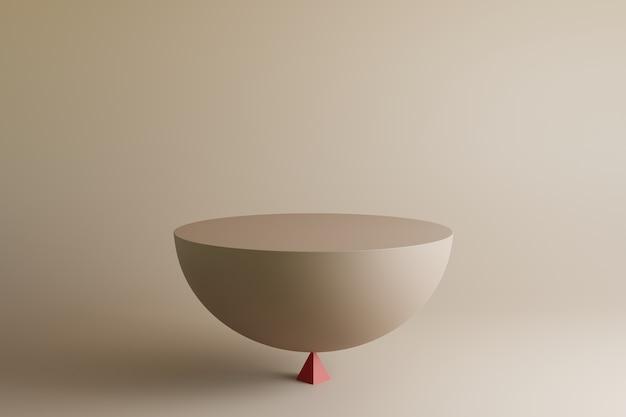 Abstrakte minimale formen der 3d-illustration