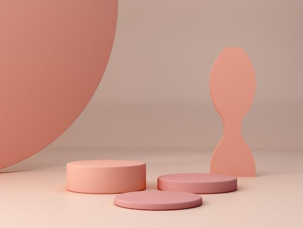 Abstrakte minimalszene mit geometrischen formen.