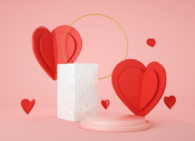 Abstrakte mock-up-szene. geometrie podium form für display produkt, geschenk und werbung. 3d-rendering