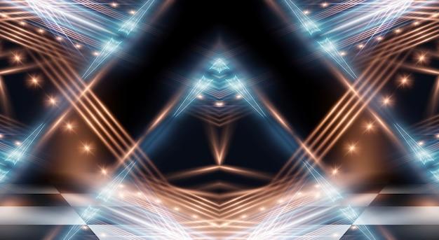 Abstrakte moderne dunkelheit mit strahlen und linien.