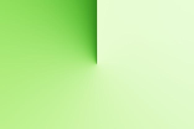 Abstrakte moderne schattenuhr, sonnenuhr auf leerem farbhintergrund-3d-rendering