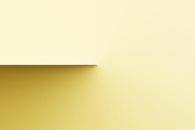 Abstrakte moderne schattenuhr, sonnenuhr auf leerem farbhintergrund-3d-rendering Premium Fotos