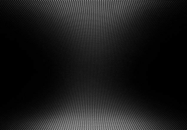 Abstrakte moderne schwarze kohlefasertextur mit gerichtetem licht