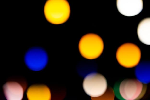Abstrakte nachtlichter leuchten im dunkeln