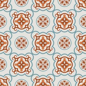 Abstrakte nahtlose verzierung für keramikfliesen
