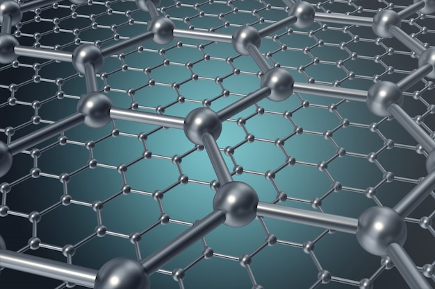 Abstrakte nanotechnologie hexagonale geometrische form nahaufnahme