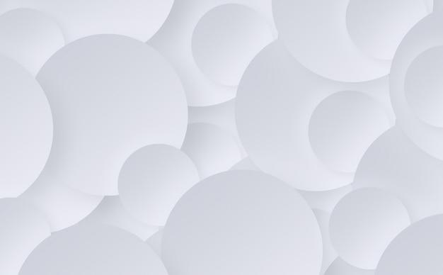 Abstrakte oberfläche von weißen kreisen