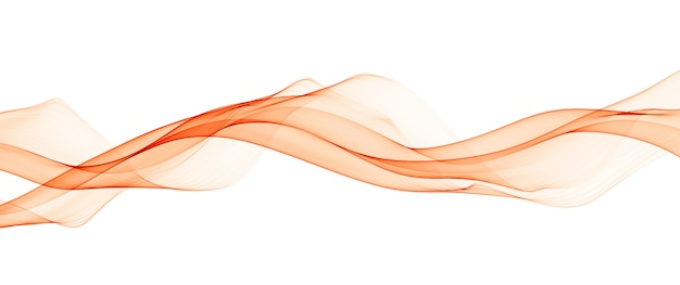 Abstrakte orange glatte wellenlinien