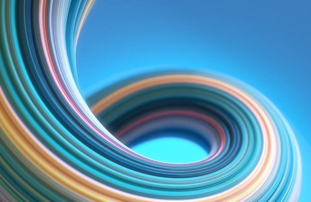 Abstrakte pastellfarbe der geometrie 3d verdrehte formhintergrund