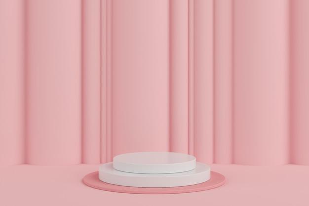 Abstrakte pastellfarbgeometrische form, podiumanzeige für produkt. minimales konzept. hintergrund der wiedergabe 3d.