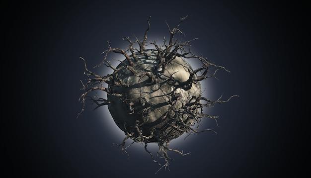 Abstrakte planetenszene