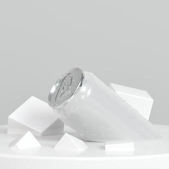 Abstrakte pop-top-container-präsentation mit zuckerwürfeln