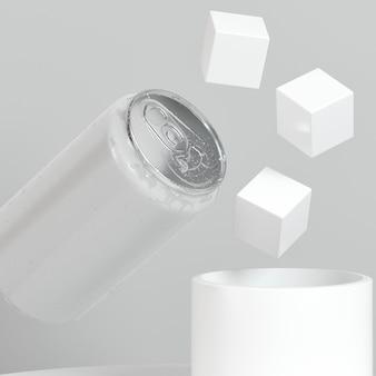 Abstrakte pop-top-zinn-präsentation mit zuckerwürfeln