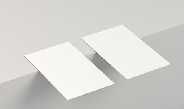 Abstrakte position von leeren visitenkarten
