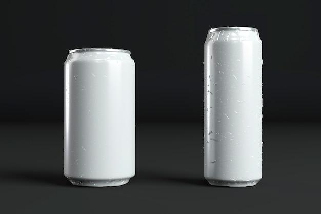 Abstrakte präsentation von aluminiumdosen