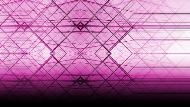 Abstrakte purpurrote architektur der geometrie am glasfenster