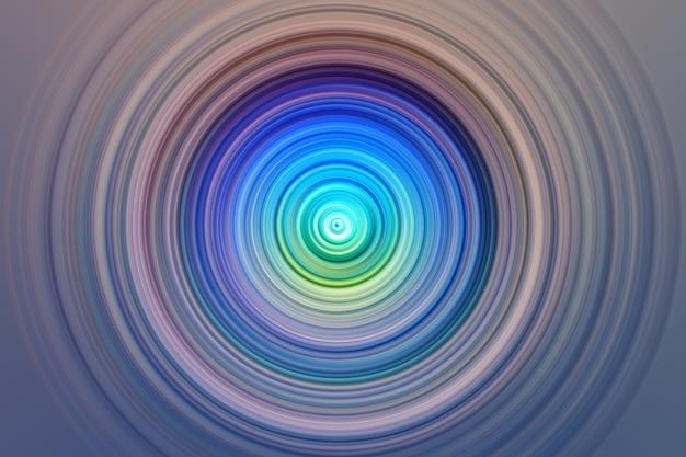 Abstrakte radiale bewegungsunschärfe auf einem blau Premium Fotos