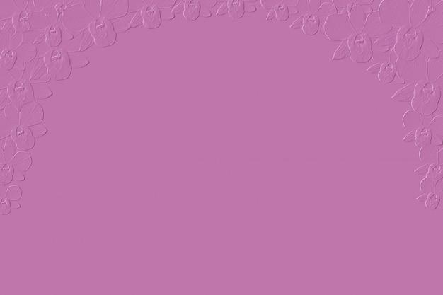 Abstrakte rosa orchideenblume prägen hintergrund