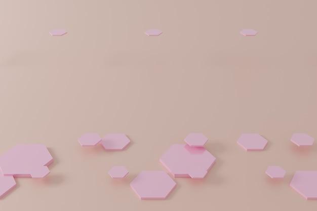 Abstrakte rosa sechseckwabenhintergrund-3d-darstellung