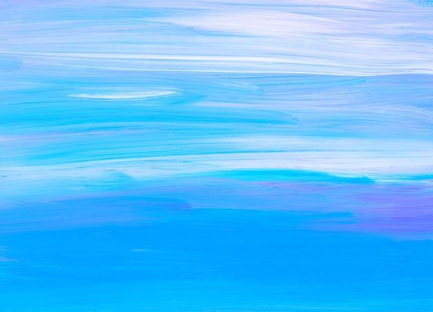 Abstrakte ruhige türkisfarbene und weiße hintergrundmalerei. zeitgenössische kunst. weiche pinselstriche auf papier.