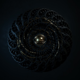 Abstrakte schwarz-gold-komposition