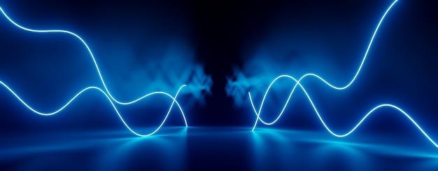 Abstrakte sci-fi-neonbeleuchtung 3d rendern