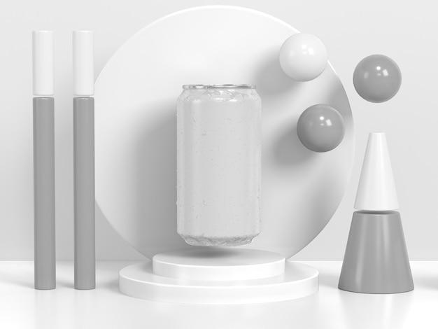 Abstrakte soda-behälter-präsentation