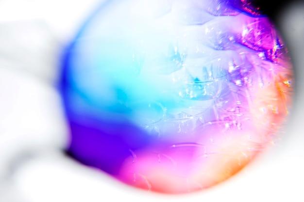 Abstrakte steigung verwischte mehrfarbiges regenbogenlichtspektrum im kreis