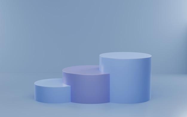 Abstrakte szene für 3d-rendering der produktanzeige