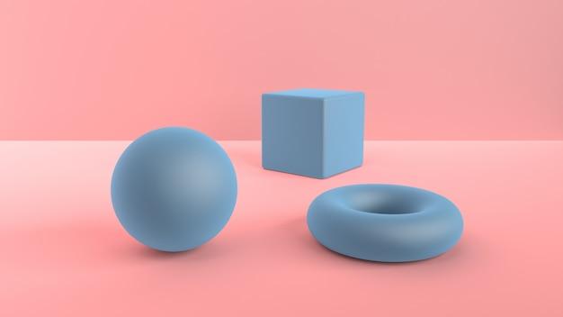 Abstrakte szene von geometrischen formen