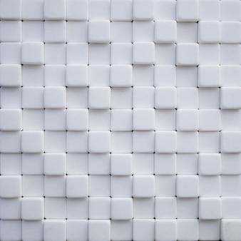 Abstrakte tapete oder hintergrund aus weißen marmorsteinwürfeln