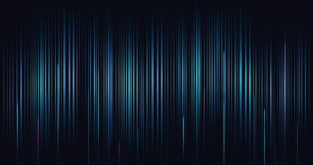 Abstrakte technologie digitaler linienwellenmusterhintergrund und futuristisches kommunikationsnetzwerk-website-hintergrundbild mit innovation des dynamischen bewegungseffekts der geschwindigkeit.