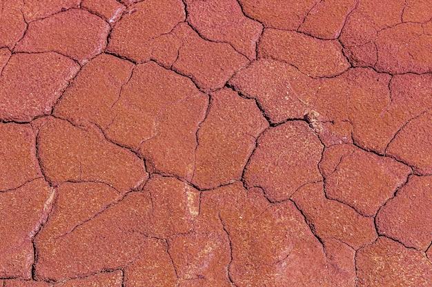 Abstrakte textur der getrockneten rissigen verbrannten erde. globale erwärmung und wassermangel auf dem planetenkonzept. erstarrte graue erdoberfläche für den hintergrund oder das grafikdesign.