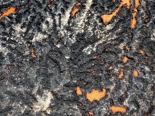 Abstrakte und natürliche spuren von feuersägemehl-oberflächenansicht von oben