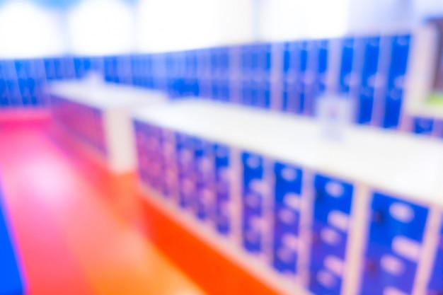Abstrakte unschärfe aufsteigende blaue schließfächer