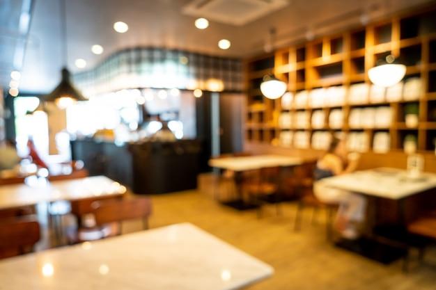 Abstrakte unschärfe cafe restaurant für hintergrund