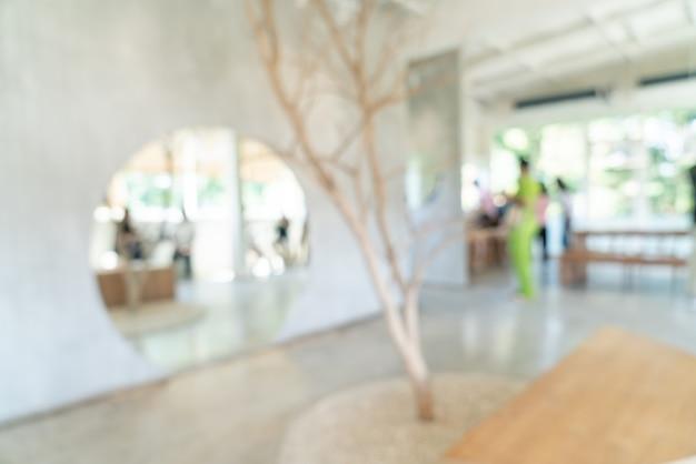 Abstrakte unschärfe coffeeshop cafe restaurant für hintergrund
