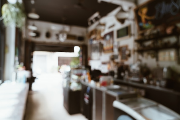 Abstrakte unschärfe coffeeshop café und restaurant für hintergrund