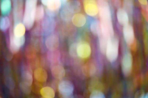 Abstrakte unschärfe des bunten bandregenbogens auf decke